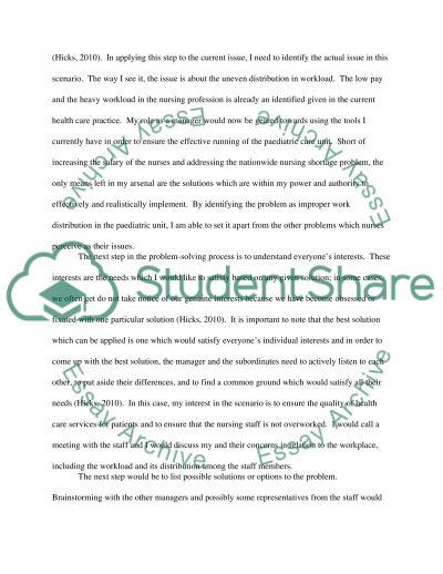 Scenario Analysis - Filling you toolbox essay example