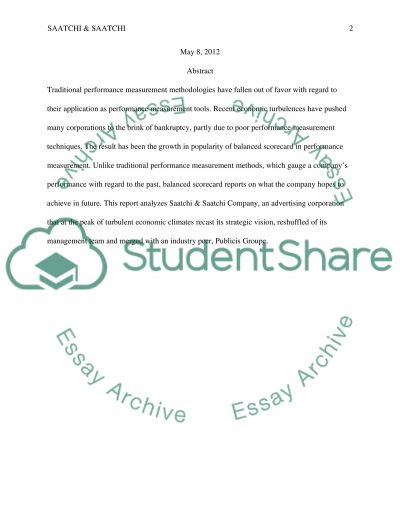 The Financial Perspective Essay essay example