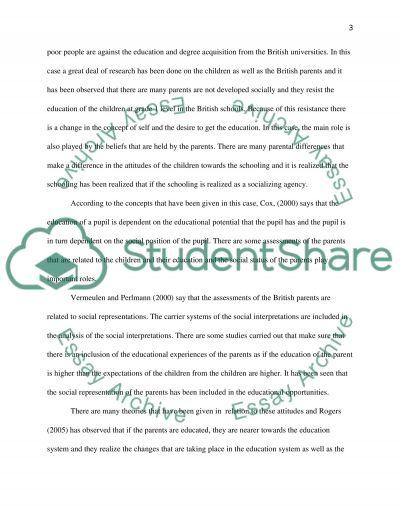 Educational performance essay example