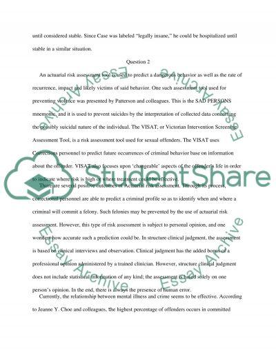 Criminal Psychology essay example
