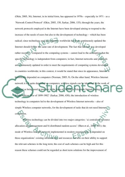 Wireless Internet: How Technology, especially Wireless Internet, has changed the way we do business essay example