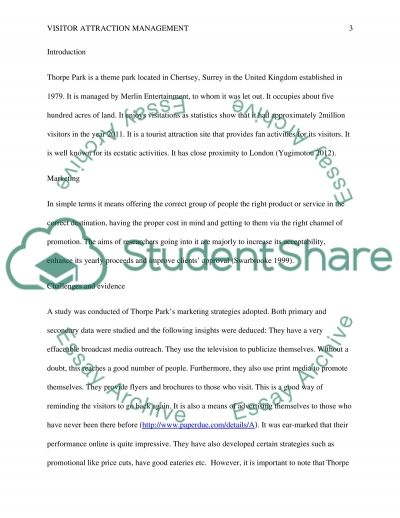 Visitor Attraction Management essay example