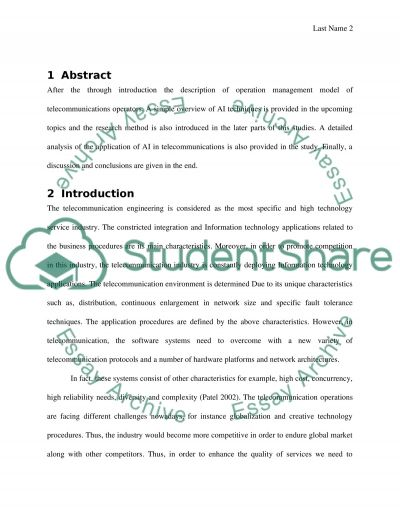 Artificial Intelligence and Expert Systems essay example