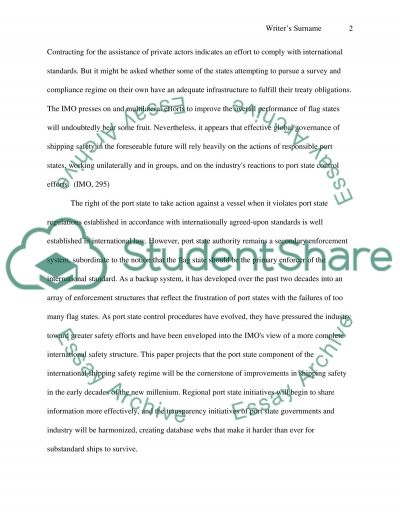 Port state control Essay example