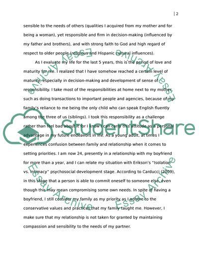 Essay on personal development