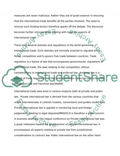 Various methods and attempts employed in the harmonization of international trade law essay example