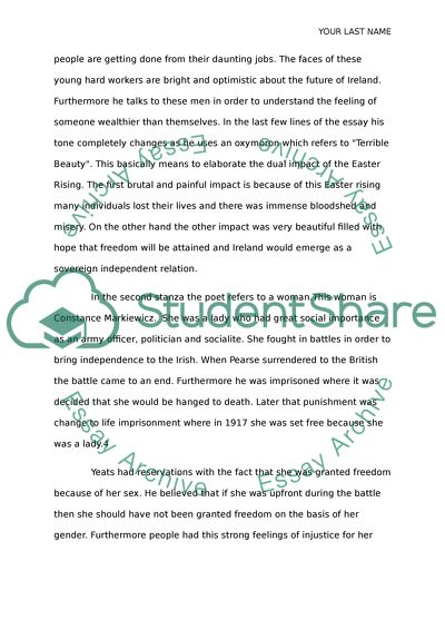 Thesis Example Essay Easter  By William Butler Yeats How To Write A Thesis For A Persuasive Essay also A Healthy Mind In A Healthy Body Essay Easter  By William Butler Yeats Essay Example  Topics And Well  Help Writing Essay Paper