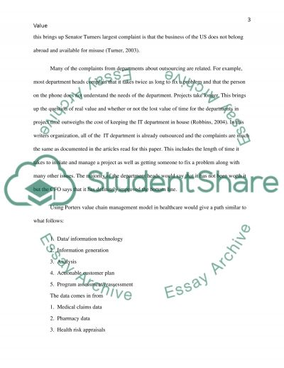 Nursing  Information Technology Essay example