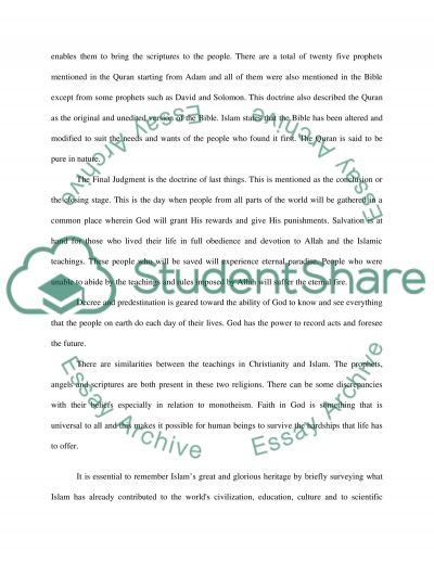 Christianity and Islam Essay example