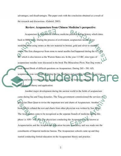 Chinese Medecine essay example