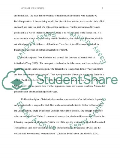 Buddism and Christianity Essay example