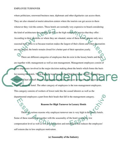 research paper on employee turnover