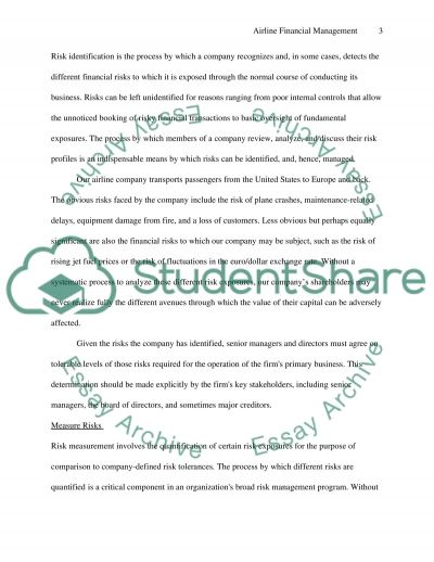 Airline Financial Management essay example