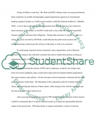 PNC Financial Service essay example