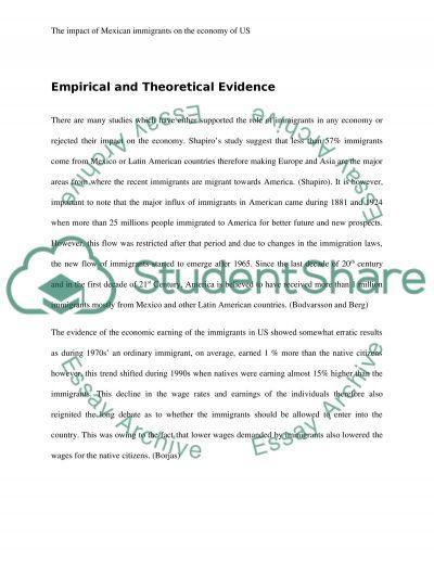 Economics of Immigration essay example