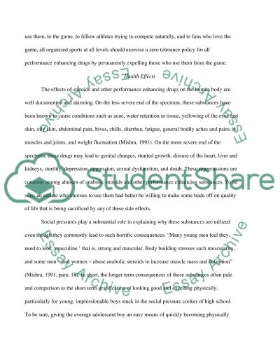 Performance Enhancing Drugs in Sports essay example