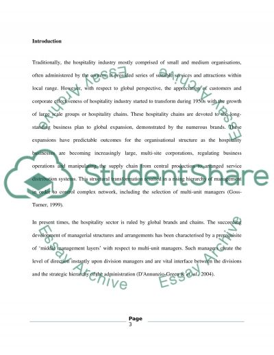 Human Resources Strategy in Multi Unit Service Organisations essay example