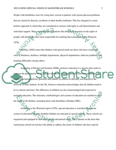 Benefits and Difficulties of Including Children with Special Needs in Mainstream School