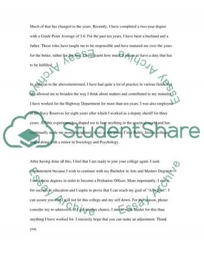 College reinstatement letter admissionapplication essay college reinstatement letter altavistaventures Image collections