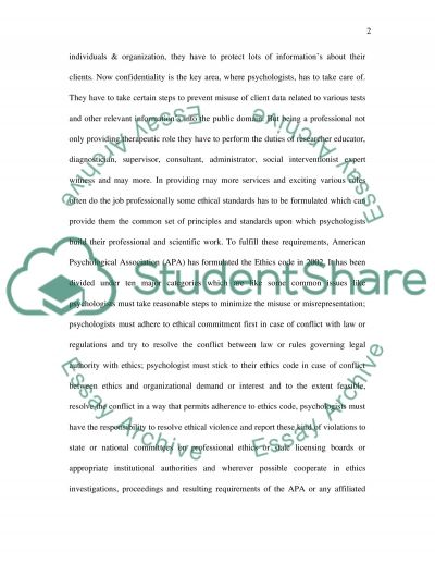 Clincial Psychology essay example