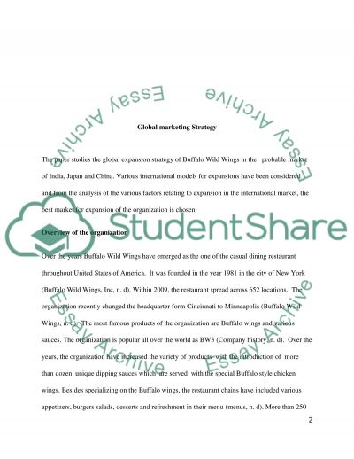 Global Marketing Strategy and Practice essay example
