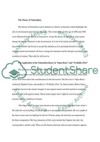 Build a fire with nature essay