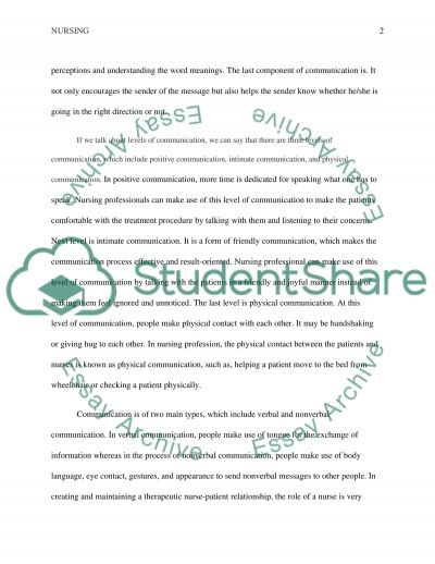 Therapeutic Communication essay example