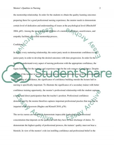 Attributes & Qualities that can Enhance Mentors Effectiveness essay example