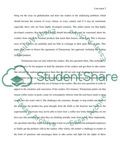 A Summary-Strong Response Essay