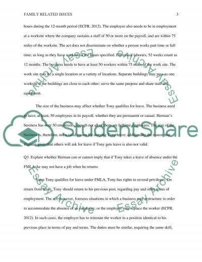 Family Related Issues essay example
