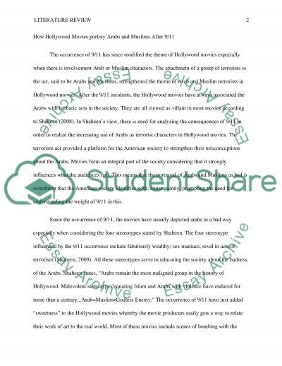 Literature review essay example