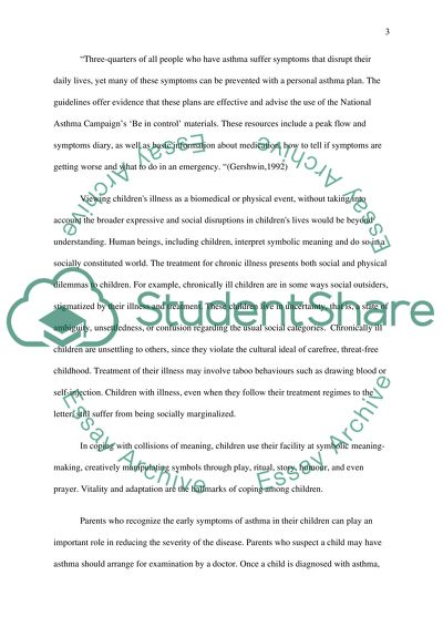 Live with ashtma Essay Example | Topics and Well Written