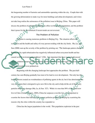 Air Pollution In Beijing Essay Example  Topics And Well Written  Air Pollution In Beijing English Essay Speech also Diwali Essay In English  What Is Thesis In An Essay