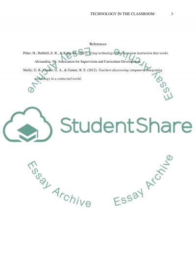 Technology in the classroom essay example