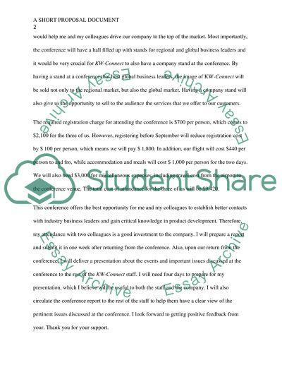 A short Proposal document