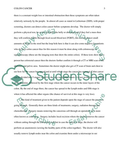 English Essays For Students Read Textpreview Thesis Essay Topics also Essay Examples High School Colon Cancer Essay Example  Topics And Well Written Essays   Words Essay On Health Promotion