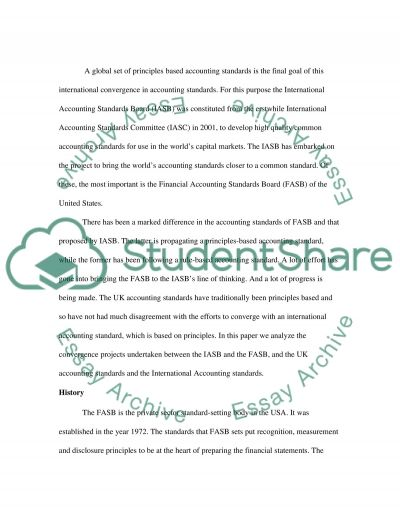 Convergence of Accounting Standards essay example