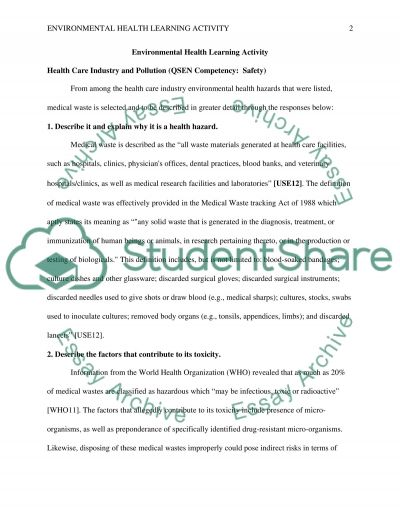 Environmental Health Essay example