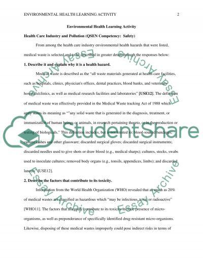 Environmental Health essay example