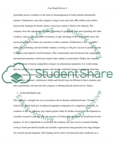 Case study review essay example