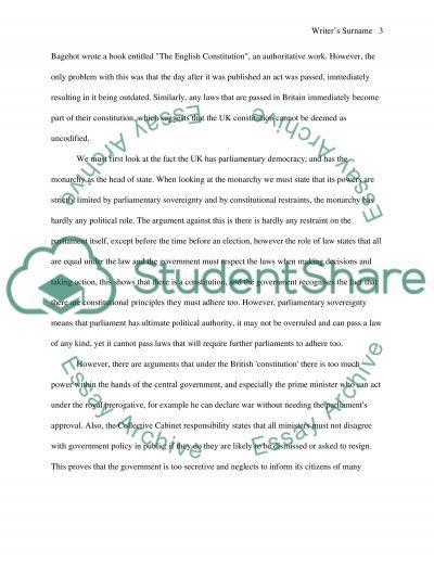 Constitutional Law essay example