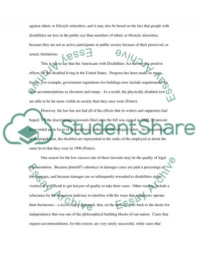 Americans with Disabilities essay example