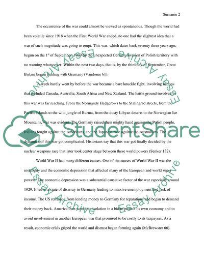 world war 2 term paper