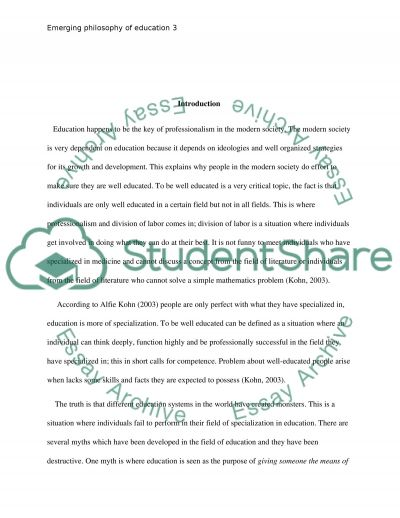 What Does it Mean to Be Well Educated essay example