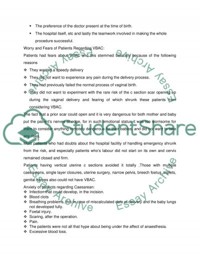 Childbirth Thesis essay example