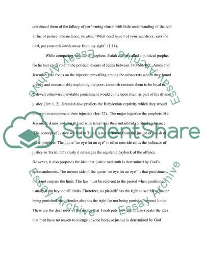Isaiah essay example
