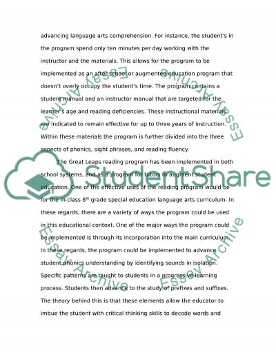 Commercial Reading Programs essay example