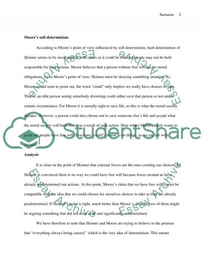 Compare and contrast skinner and moores different views essay example