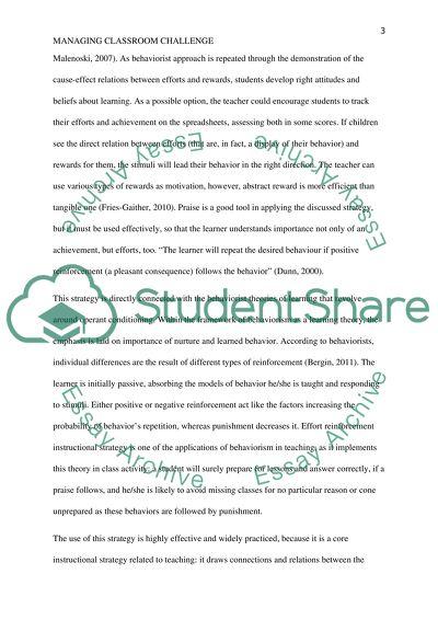Managing classroom Challenge