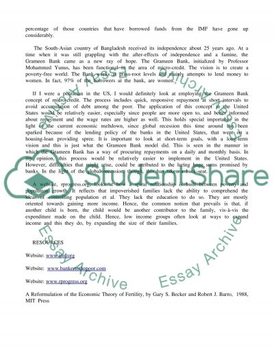 Essay On Hunger in Developing Countries Essay example